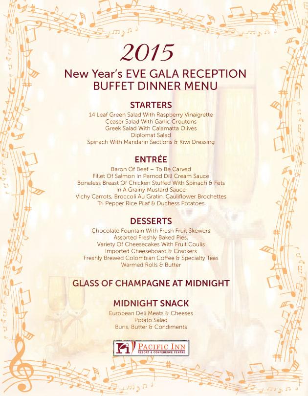 NEW YEAR\u0027s EVE DINNER  DANCE AT PACIFIC INN RESORT, WHITE ROCK