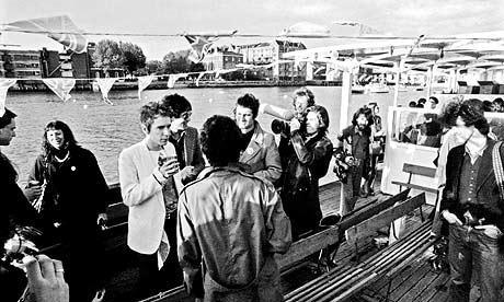 Sex Pistols jubilee boat trip in 1977