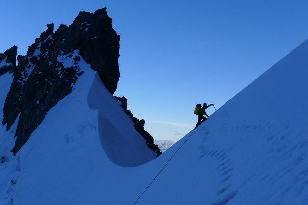 Miles on Col Moore approaching Divine Providence. Photo- Calum Muskett
