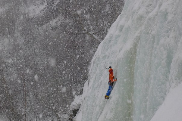 Andy Turner ice climbing in Setesdal. Photo- Calum Muskett