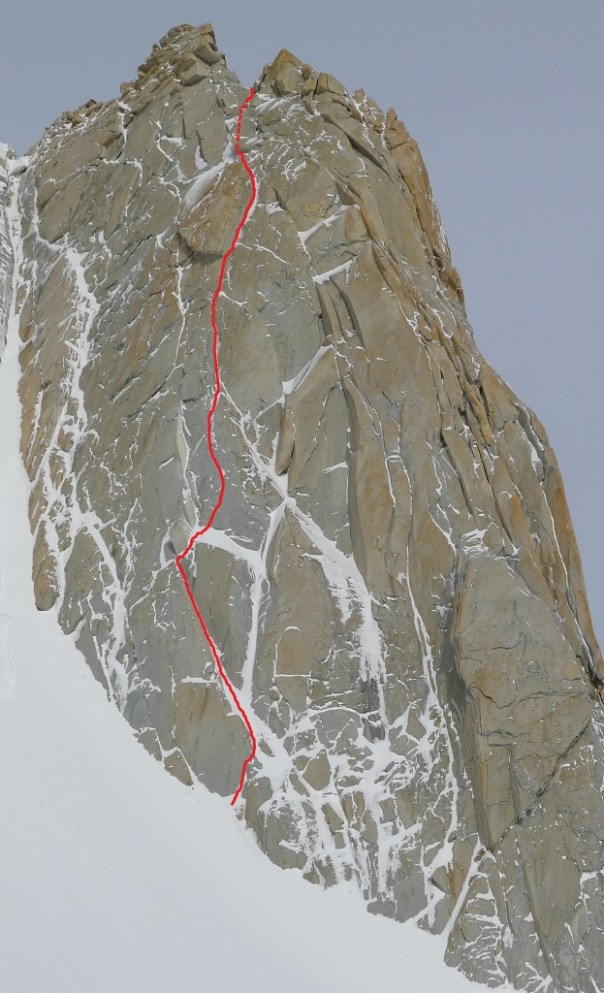 The line of our new route. Photo - Calum Muskett