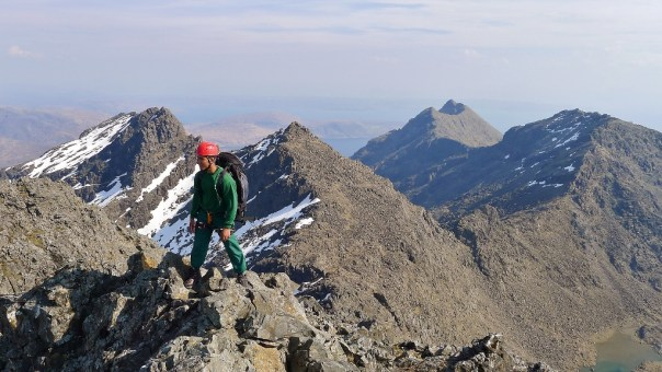 Looking back along the Cuillin Ridge. Photo- Calum Muskett