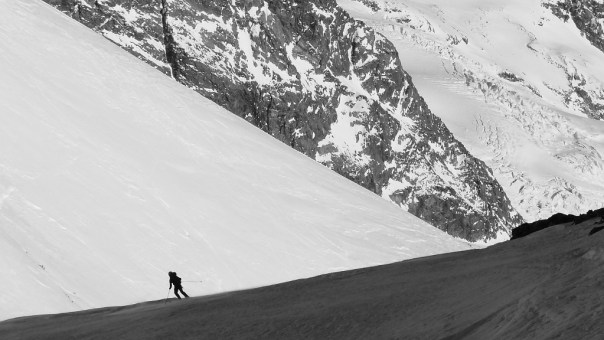 Skiing in the Pennine Alps. Photo - Calum Muskett