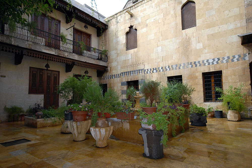 3d Fountain Wallpaper The Courtyard Houses Of Syria Muslim Heritage