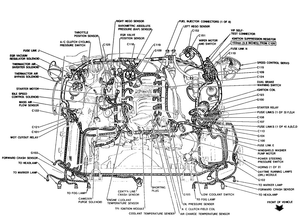 2011 ford mustang engine diagram