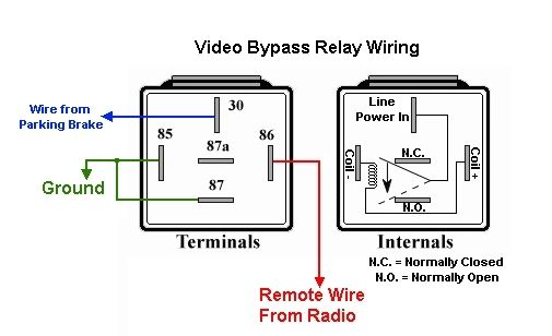 bypass relay wiring diagram on pioneer avh 4000nex wiring diagram