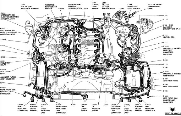 ford mustang engine wiring