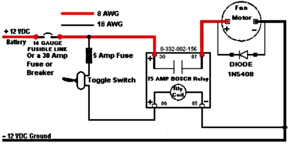 wiring fan relays