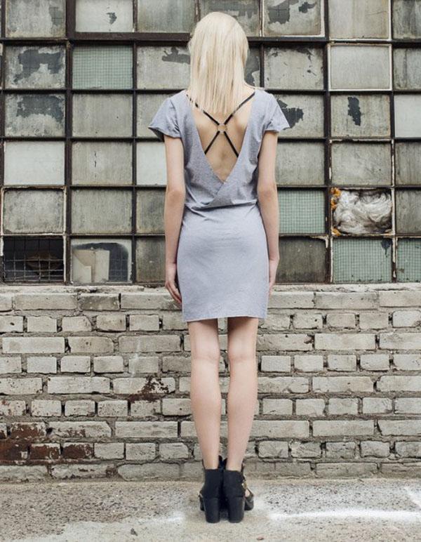 szara sukienka dresowa 2015