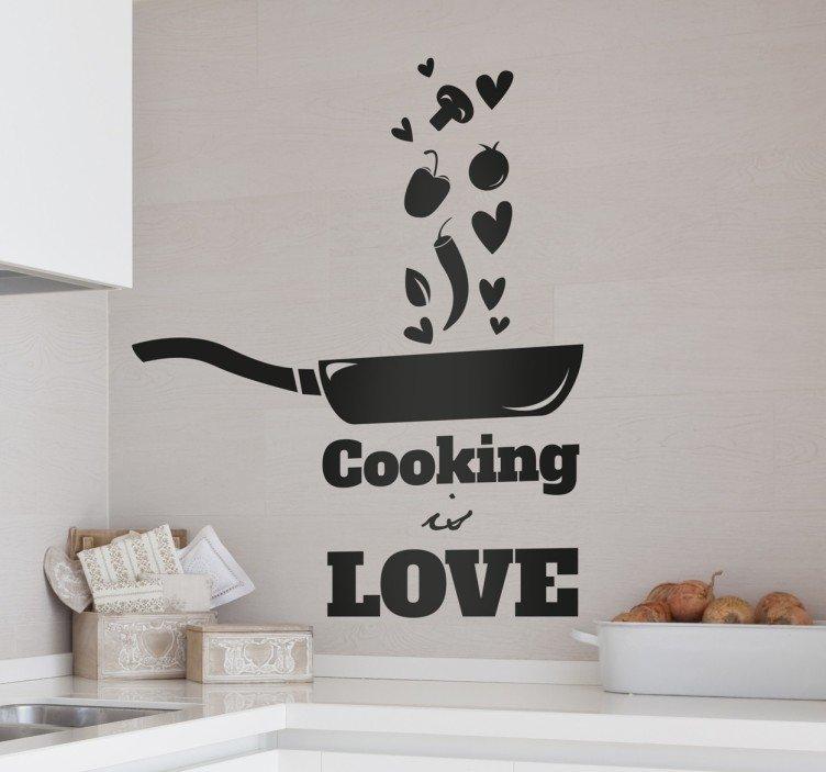 cooking-is-love-naklejka-scienna-9010