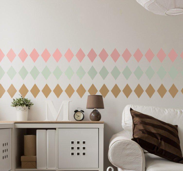 naklejki-na-sciane-pastelowe-romby-8663