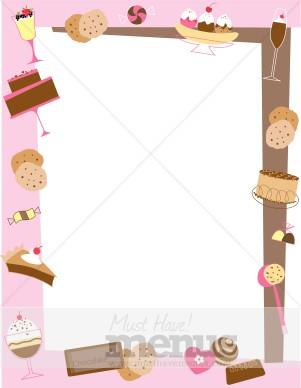 Sweet Girl Wallpaper Download Free Dessert Border Food Menu Borders