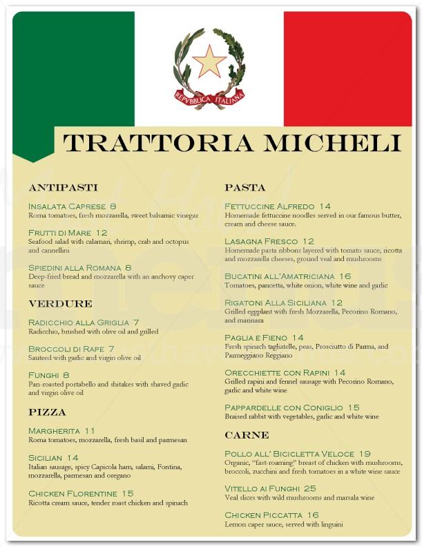 Italian Menu Photo Collection Sample Italian Menu For Italian Menu - italian menu