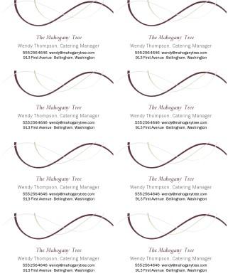 Wine Bar Business Card Marketing Archive