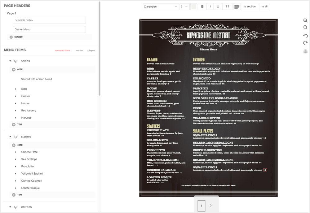Design Restaurant Menus Online - MustHaveMenus