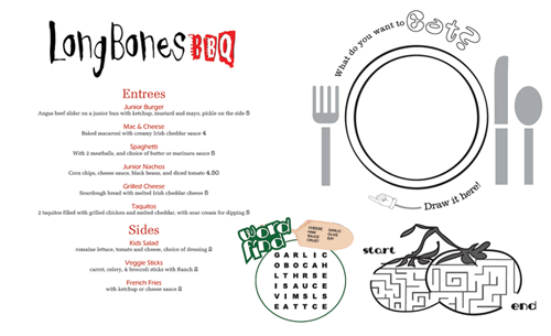 Kids39 Menu Kid Menu Designs Kid Menu Templates