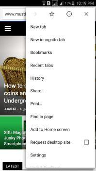 Desktop Version Android Google Chrome