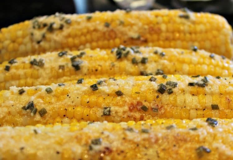 The Most Amazing Parmesan Chive Corn on the Cob