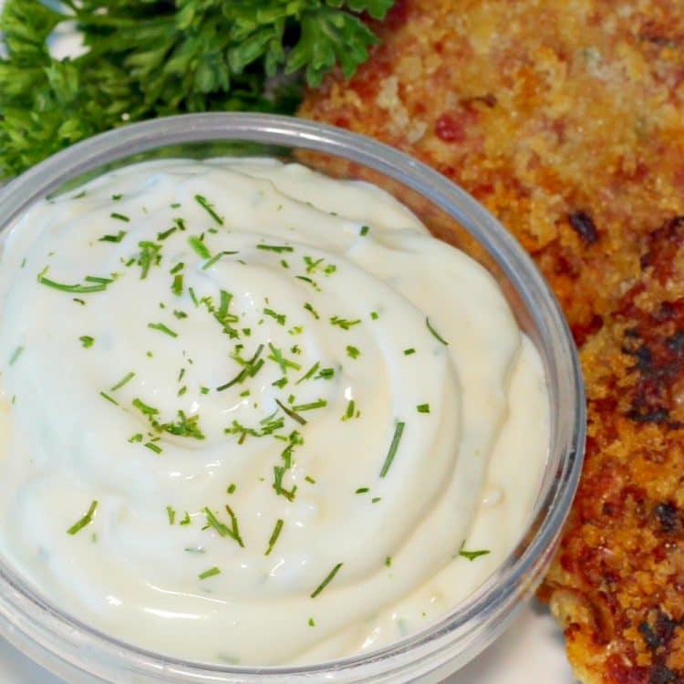 delicious Garlic Dill Aioli, a creamy mix of mayonnaise, sour cream ...