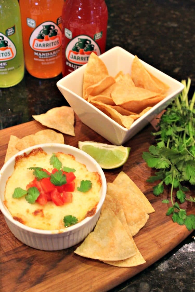 Tequila Queso Fundido is melted cheese flavored with tomatoes, chiles ...