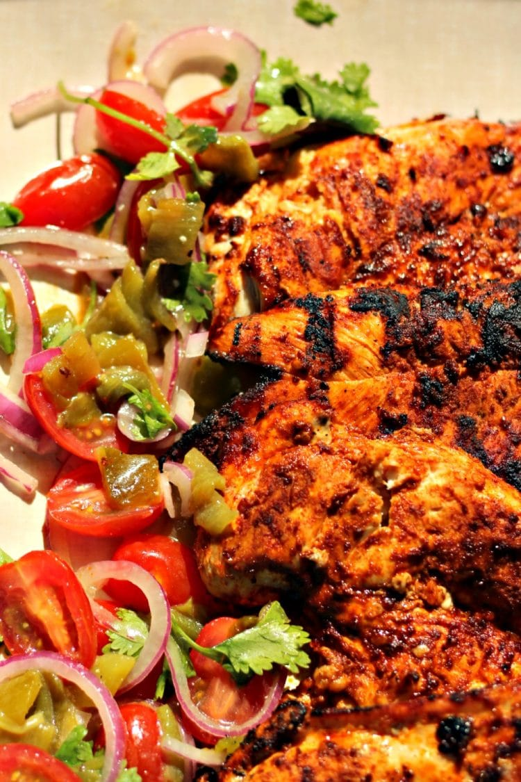 Harissa Chicken are grilled chicken breasts that have been marinated ...