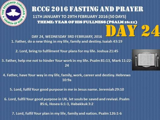 RCCG fasting 2016 DAY 24