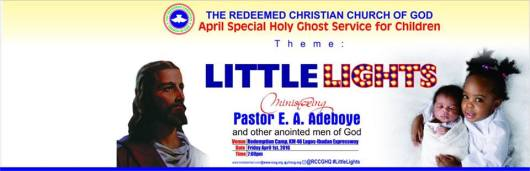 RCCG April 2016 Special Holy Ghost Service for children