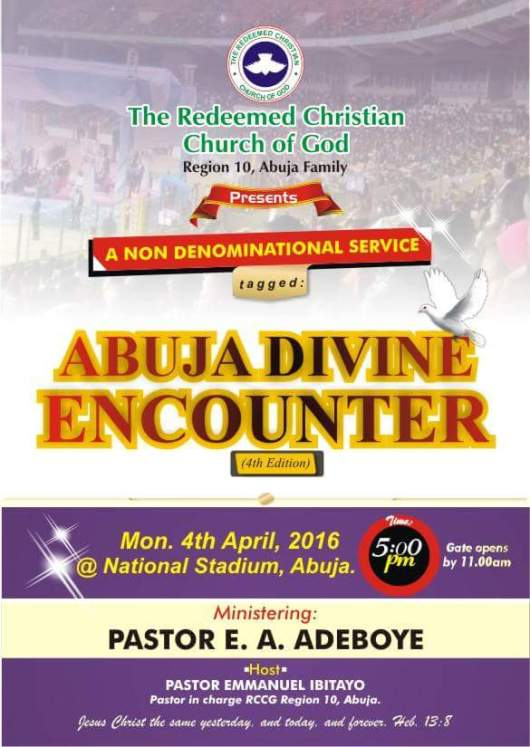 RCCG Abuja Divine Encounter April 2016