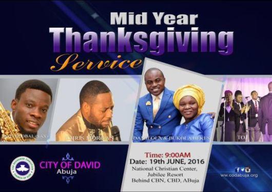 RCCG COD Abuja mid year thanksgiving service 2016