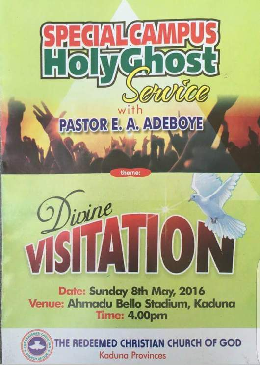 RCCG Special Campus Holy Ghost Service Kaduna