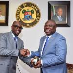 Tunde Folawiyo presented Governor Ambode with a sample of the crude oil - May 16th 2016
