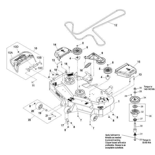 lesco viper 60 parts diagram