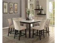 Nolan White Marble Top Counter Height Dining Set - Shop ...