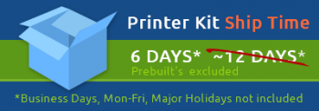 Printer Kit Ship Time - 6 days