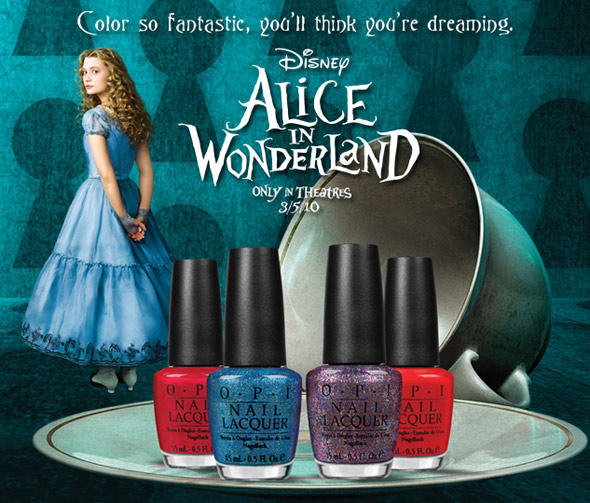 OPI Alice in Wonderland nail polish collection