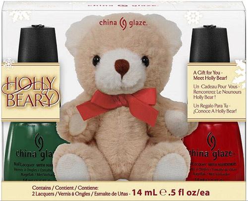 China Glaze Let It Snow Holly Bear-y