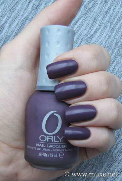 Orly Purple Velvet Matte swatch