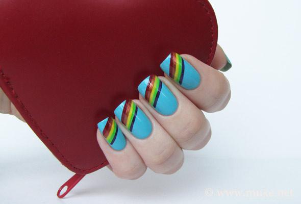 Rainbow Nails - Nail Art Design