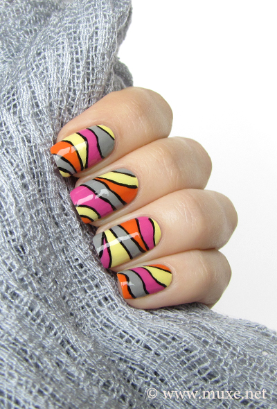 Color Blocking Nails Freehand