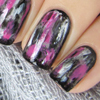 Pink and Black Grunge Nails