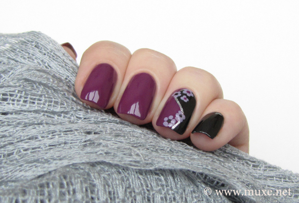 Black and Purple nails