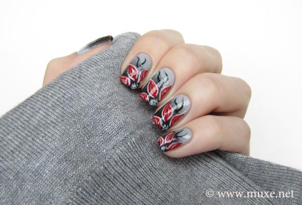 Grey gradient nails