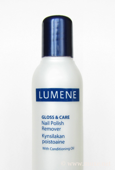 Lumene Gloss & Care nail polish remover