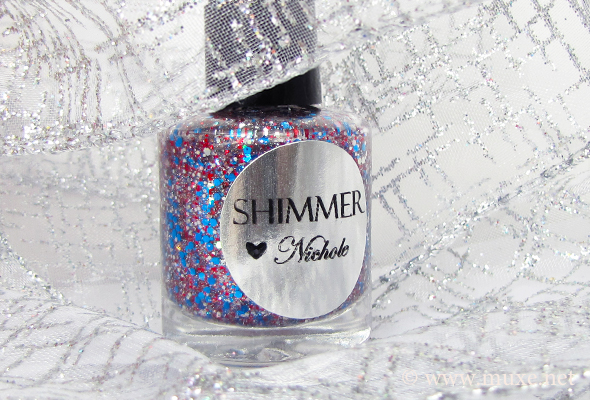 Shimmer Nichole - blue and red glitter