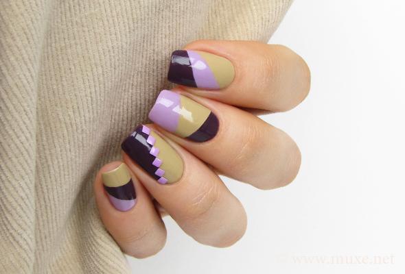 Color block nail design