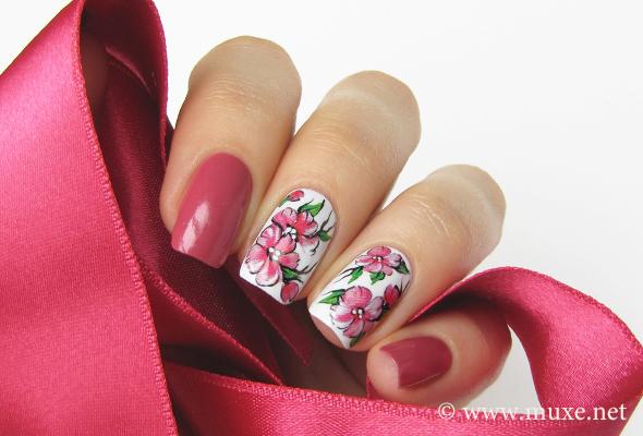 Lumene Rambling Rose - muted red nail polish