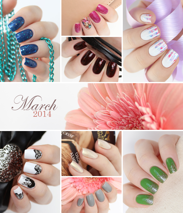 March 2014 nail art and manicures