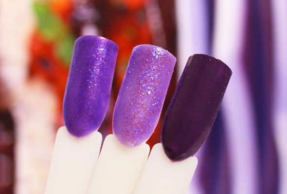 Purple nail polishes comparison