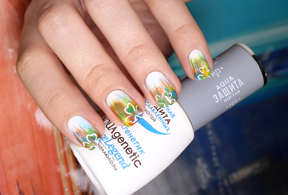 Summer to Fall nail design