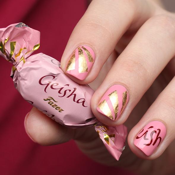 Fazer Geisha nail art in pink